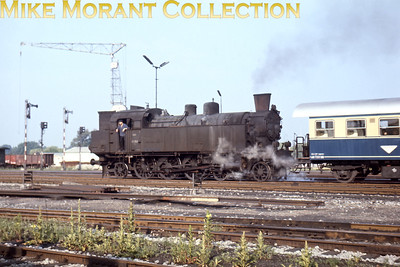 Austrian steam locomotive ÖBB 4-6-2 tank engine no. 77.253 on passenger duty at Stadlau on 17/6/67.