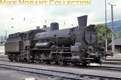 Austrian steam locomotive ÖBB 0-10-0 tender engine no. 57.223 at Niklasdorf on 15/6/67.