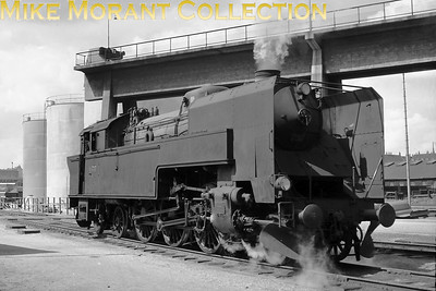 DSB  - Danish State Railways - 'S' class 2-6-4T no. 737 somewhere in Copenhagen on 5/8/58. 737 was built by Frichs and entered service 1928. Withdrawal came in 1970. [Mike Morant collection]