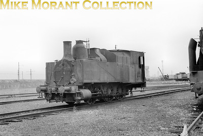 LOCATION ???? SNCF Sud-Est region 030 TB 59 is a non superheated, two-cylinder simple 0-6-0T that originated with the PLM as an 0-6-0 Bourbonnais tender engine built during the period 1857 thru' 1882. This example was rebuilt as a tank engine  in 1910 in the PLM shops at Oullins and was then numbered 7454 but from 1925 was renumbered to AM 59 whilst further renumbering by the SNCF applied the number shown here. [Mke Morant collection]