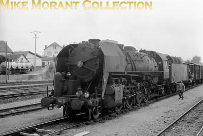 SNCF 2-8-2 no. 141 R 751 at an unknown location. [Mke Morant collection]
