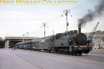 SNCF 0-10-0T no. 050 TE 523 shunting empty stock at Boulogne on 15/9/68.