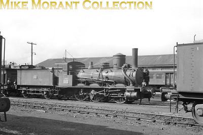 SNCF 0-6-0 no. 030 C 663 at dépôt Morlaix on 13/3/60.