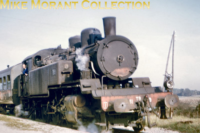 SNCF 2-6-2T no. 131 TB 9 at Artonges on 19/10/69.
