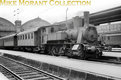 Pre-war German steam  -  Deutsche Reichsbahn-Gesellschaft (DRG) Bavarian BR D ll 2-cylinder simple 0-6-0T no.89 667 at München Hbf circa 1938.