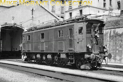 SBB  -  Swiss Federal Railways Class Ae 3/5 1'Co1' electric locomotive no. 10210 of 1922 vintage depicted outside the electric depot at Lausanne circa 1938.