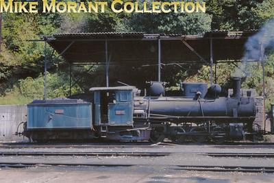 Bosnia-Herzegovina Railways 760mm gauge 0-8-2 No. 83.159 at Banovići - 27th August 1998. [Basil Roberts / Mike Morant collection]