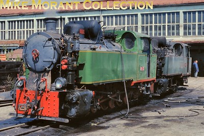 Bosnia-Herzegovina Railways 0-6-0T Nos. 25.33 and 25.31 at Banovici - 27th August 1998. [Basil Roberts / Mike Morant collection]