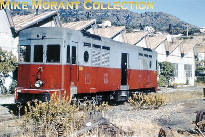 Corsican Railways  - CFC -  Chemins de Fer de la Corse 400 hp diesel powered baggage car no401 at Bastia. [Mike Morant collection]