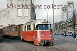 Rotterdamsche Tramweg Maatschappij��- RTM -��diesel railcar no. 1807 and vintage wooden bodiedcarriage departs from the RTM's Rotterdam terminus at Rosestraat on an unspecified date in 1 ...