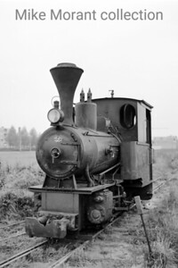 "Dutch industrial railways locomotive. Orenstein & Koppel 600mm gauge 0-4-0WT 11735/1928 is depicted here at Steenfabriek IJsseloord on 26-8-71. This engine bore neither name nor number but was known locally as ""Het Duiveltje"" and had been withdrawn from service in 1969 but remained on site until it was sold in 1976. The loco was regauged to 700mm but I have no history to hand after 1982. [Mike Morant collection]"