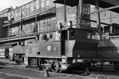 Dutch industrial railways locomotive. Oranje Nassau Mijnen (Heerlen) 0-6-0T no. 14 was a producet of La Meuse 3052/1924 that was withdrawn from service in September 1969 and is depicted here a year or so later on October 16th, 1970.  No. 14 was saved from the cutter's torch and is currently, November 2015, in the custodianship of the Stichting tot Behoud van Mijnlocomotieven in her spiritual home of Limburg. [Mike Morant collection]