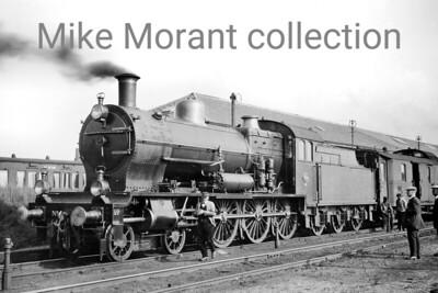 Pre-war Dutch steam locomotive  -  Vooroorlogse Nederlandse stoom locomotief Beyer Peacock designed NS Jumbo class 4-6-0 no. 3764 at Vlissingen in August 1924. 3764 had been built by Werkspoor in 1914 and was withdrawn from service in 1955. [Original negative: Mike Morant collection]