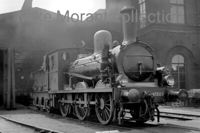 Pre-war Dutch steam locomotive  -  Vooroorlogse Nederlandse stoom locomotief Sharp Stewart designed but built byAmsterdam (Werkspoor) in 1901, former HSM 0-6-0 no. 3225 poses for the photographer outside Utrecht's shed in early August 1936. No. 3225 had a relatively short working life as it was withdrawn in the year after this picture was taken. [Original negative: Mike Morant collection]