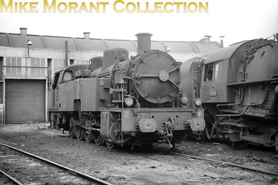 An unidentified SNCF 050 TQ class 0-10-0T at dépôt de Calais. [Mike Morant collection]