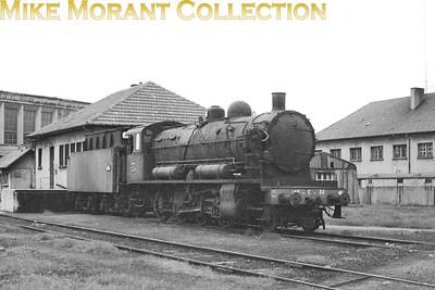 Dumped SNCF 2-8-0 no. 140 C 30 at dépôt de Sarraguemines. [Mike Morant collection]