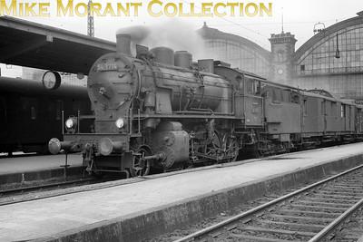 Pre-war German steam  -  Deutsche Reichsbahn-Gesellschaft (DRG) Bavarian G 3/4 H 2-cylinder simple 2-6-0 no. 54 1714 at München Hbf circa 1938.