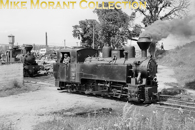 Narrow gauge (760mm) Orastia Forestry Dept. CFF (Caile Ferate Forestiere) 0-8-0T no. 764-375 was built by Resita (Romania) with works no. 1193 in 1951 and is depicted here on 14/7/80 but with no stated location.