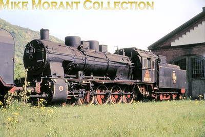 Romanian railways-  CFR  -2-10-0 no. 150.191 at Subcetate shed in May 1969. [Mike Morant collection]