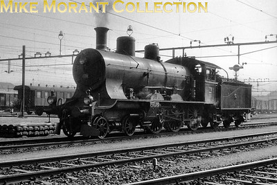 Swiss steam in the form of SBB 4-cylinder compound A 3/5 class 4-6-0 no. 788. No details were supplied with this negative regarding date or location. One member of this class, no. 705, forms part of SBB's heritage steam fleet. [Mike Morant collection]