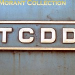 Turkish steam��- TCDD -�� July 1977. TCDD brass plate. [Mike Morant collection]