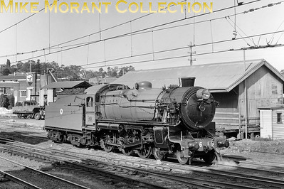 AUSTRALIAN STEAMNew South Wales Government Railways  NSWGR class 36 4-6-0 No. 3616 - the only Australian locomotive to be fitted with the Giesl improved draughting system - prepared for a special working from Sydney in 1971.. [A. E. 'Dusty' Durrant / Mike Morant collection]