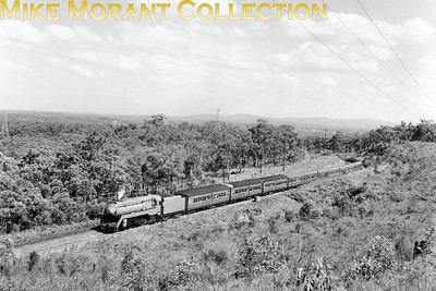 AUSTRALIAN STEAMNew South Wales Government Railways  Pioneer streamlined NSWGR class 38 4-6-2 No. 3801 heads a special excursion in 1972.. [A. E. 'Dusty' Durrant / Mike Morant collection]