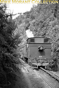 NZR (New Zealand Railways) We class 4-6-4T no. 377 on Rewnaui Incline on the west coast of the south Island photographed on January 27th, 1965. [John Brouwer / [Mike Morant collection]]