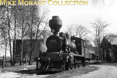 Valtionrautatiet  - Finnish State Railways -  VR Hk5 class 4-6-0 no. 449. [Mike Morant collection]