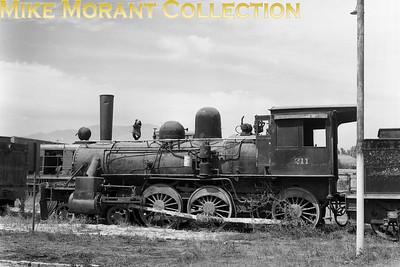 "FEC Chilean Railways 5' 6"" gauge 4-6-0 locomotive No. 211 (BLW-built?) taken in March 1977. [A. E. 'Dusty' Durrant / Mike Morant collection]"