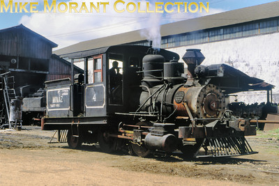 Viewers' knowledge of this 0-4-2T  - it's either 1112 or 1201 -  would be welcome. Please use the CONTACT ME facility on the thumbnails page to get in touch. Mill: 211 Ruben Martinez Villena Engine no.: 4 Wheels: 0-4-2T Gauge: standard Builder:  Photo date: 19/3/93 Photograph: Basil Roberts / Mike Morant collection