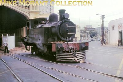 FCPCAL  - Ferrocaril Presidente Carlos Antonio Lopez Paraguayan steam locomotive 2-6-2T no. 6- Hawthorn Leslie ????/???? - at Asunción in 1981. [Mike Morant collection]