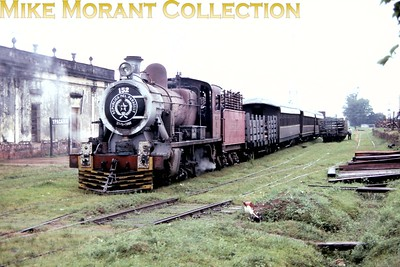 FCPCAL  - Ferrocaril Presidente Carlos Antonio Lopez Paraguayan steam locomotive 2-6-0 no. 152 -   Yorkshire Engine Co. (Sheffield) 2514/1953 at Ypacarai. [Mike Morant collection]