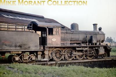 FCPCAL  - Ferrocaril Presidente Carlos Antonio Lopez Paraguayan steam locomotive 2-6-0 no. 524  - NBL ?????/1911 in December 1981. [ Mike Morant collection]