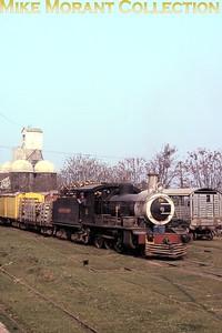 FCPCAL  - Ferrocaril Presidente Carlos Antonio Lopez Paraguayan steam locomotive 4-6-0 no. 228- NBL 19214/1910 -at Villa ?????? on 18/7/84. [Mike Morant collection]