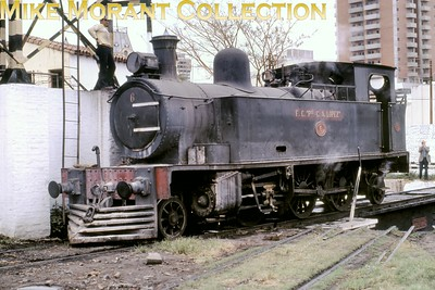FCPCAL  - Ferrocaril Presidente Carlos Antonio Lopez Paraguayan steam locomotive 2-6-2T no. 6  - Hawthorn Leslie ????/???? -   at Asunción in 1981. [Mike Morant collection]