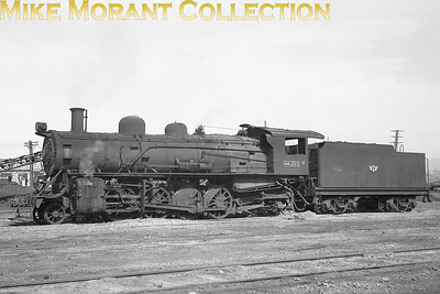 Korean National Railways 2-8-2 no. MK3-216 at Yongsan on March 6th, 1954 [Don Ross / Mike Morant collection]