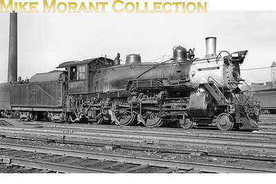 This beautifully proportioned P5 class atlantic No. 2565 was owned by the Chicago, Burlington & Quincy RR more familiarly known as The Burlington Route.  This example was one of a class comprising 14 locos dating from the mid-1920's but which were actually rebuilds of earlier locomotives built in 1902/3. This shot was taken at St. Louis Missouri in December 1940 and all were withdrawn from service between 1942 and 1954. [Mike Morant collection]
