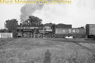 Chicago & Illinois Midland RR 0-8-0 No. 540 was one of a class of only two locomotives built by Lima in 1937 and they survived until 1955. Date and location not known. [Mike Morant collection]