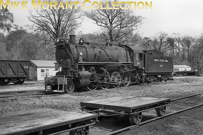 United States Army S160 class 2-8-0 no. 612 at an unidentified army base probably in the USA.