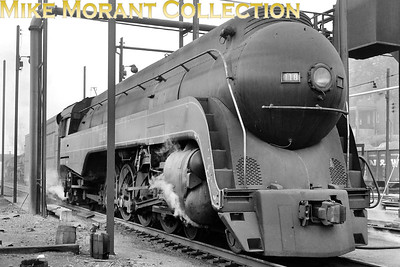 Norfolk and Western K-class 4-8-2 No 118 at the Bluefield, WVA engine terminal in August, 1958. [Photographer: R. E. Field/Mike Morant collection]