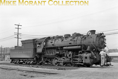 Norfolk and Western Rly 0-8-0 No. 270 at Peterboro VA in 1958. [Photographer: R. E. Field/Mike Morant collection]