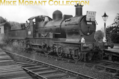 SLS: Earl Special 14/6/53 Pictures of this railtour seem to be particularly scarce but here we see 'Dukedog' 4-4-0 no. 9000 far from home and and in poor light at Reading West station. No. 9000 was an 89C Machynlleth engine and would remain there until withdrawal in March 1955. [Mike Morant collection]