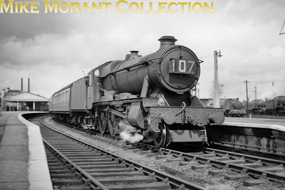 An unidentified Hawksworth 'County' class 4-6-0 at Newton Abbot. [Mike Morant collection]