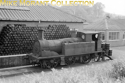 No. 193 was an 0-6-0T ordered by the Taff Vale railway from Kitson in 1884 as one of three engines designed specifically for use on the rope worked incline at Pwllyrhebog, a colliery near Tonypandy in the Clydach valley of South Wales. She was originally numbered 141 by the TVR and was subsequently classified as class 'H'. The GWR renumbered her 792 whilst BR applied 193 in 1949. Withdrawal came with the closure of the incline in 1951 and 193 found further service with the NCB at the tar distillation plant at Wernddu near Caerphilly but was finally withdrawn in 1960 having seen little use during her NCB years. the photo was taken in 1956 presumably at Wernddu. [Mike Morant collection]