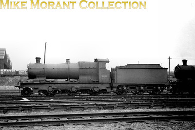 GWR Fean designed 'Aberdare' class 2-6-0 no.2601 was one of the final batch of thisd class built in 1907 and is depicted here (allegedly) at Reading but undated. Note that this one of this class that has acquired a large tender from a withdrawn Robinson R.O.D. 2-8-0.