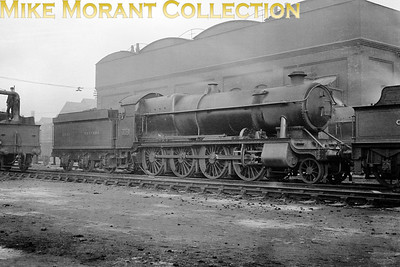 A pre-war shot of GWR Churchward 4700 class 2-8-0 no. 4708 at Old Oak Common shed. This small class survived quite well and 4708 was withdrawn in October 1962 from that same shed.