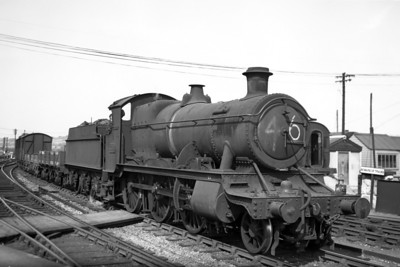 GWR Churchward 4300 class mogul no. 5350 at Newton Abbot circa 1947.