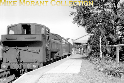 An unidentified Collett 0-6-0PT at Lambourn which closed on January 4th. 1960. [Mike Morant collection]