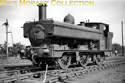 GWR Dean designed 2181 class 0-6-0 pannier tank no. 2182 at St. Blazey mpd. 2182 was withdrawn at 83E St. Blazey on 31/8/55. [Mike Morant collection]